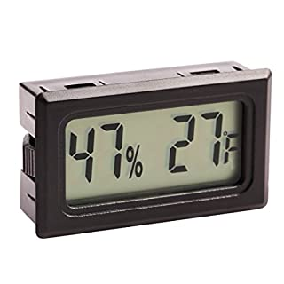 Mini Digital Thermometer Indoor Hygrometer Humidity Monitor Fahrenheit Black