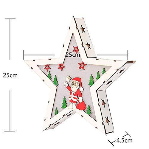 Weihnachtsferienhausdekorationen Weihnachtsbaumbeleuchtungen Led-Holzhaus-Schneemannrahmen Verziert Den Wald, Der Für Kreative Geschenke Der Kinder Eingestellt Wird