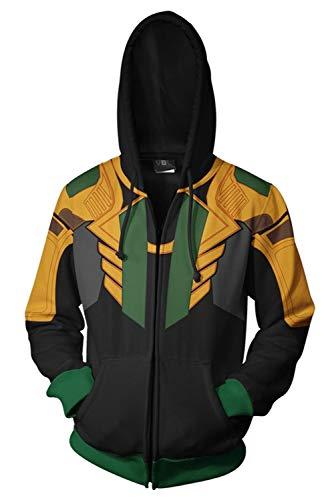 Loki Hoodie - Herren Damen Kapuzenjacke Pullover mit Kapuze