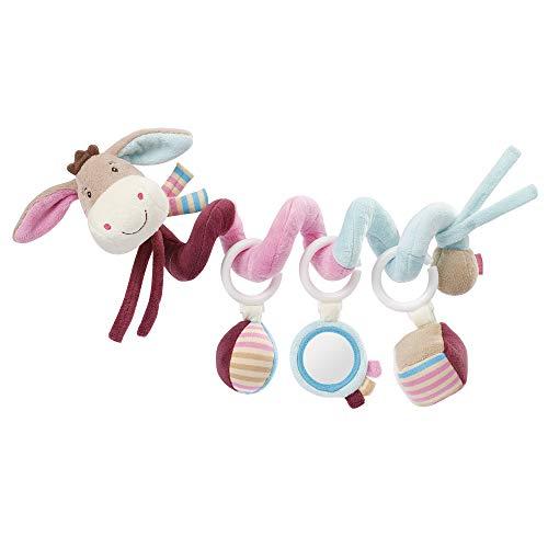 Fehn 081336 Activity-Spirale Esel - Stoff-Spirale zum Greifen und Fühlen - Für Babys und Kleinkinder ab 0+ Monaten - Maße: 30 cm