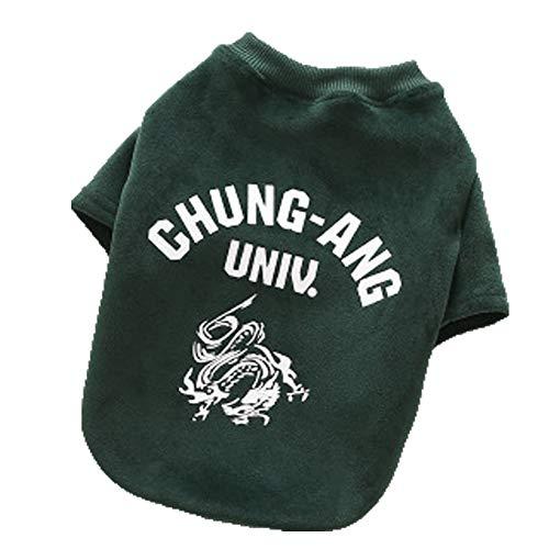 XGPT Hundebekleidung Haustier Kostüm Bottoming Hemd lässigen Haustier Hund Pullover niedlich,Green,S