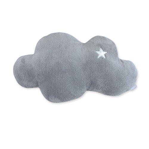 BEMINI - Coussin spécial bébé et/ou enfant - en forme de nuage Gris foncé 30 cm - Ultra moelleux