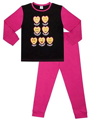 Teenage Girl's Long Pyjamas Emoji Style Long Pjs 11 to 16 Years