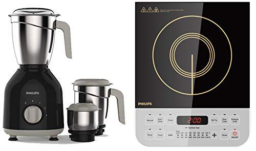 Philips HL7756/00 750-Watt Mixer Grinder + Philips Viva Collection HD4928/01 2100-Watt Induction Cooktop