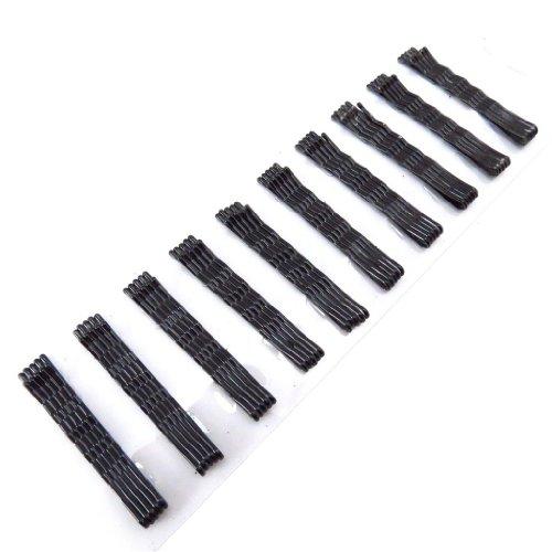 Les Trésors De Lily [J5819] - Set 50 barrettes 'Simplicité' noir (5.5 cm)