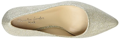 Paradox London Pink Appointed, Scarpe col tacco punta chiusa Donna Gold (Champagne)