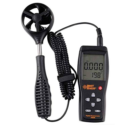 Yangge SMART Sensor Smart Sensor AS856 Digital Air-Flow-Anemometer-Windgeschwindigkeit Meter Range 0.3-45M / S Temperaturmessung Windmesser - Digital Air-flow-meter