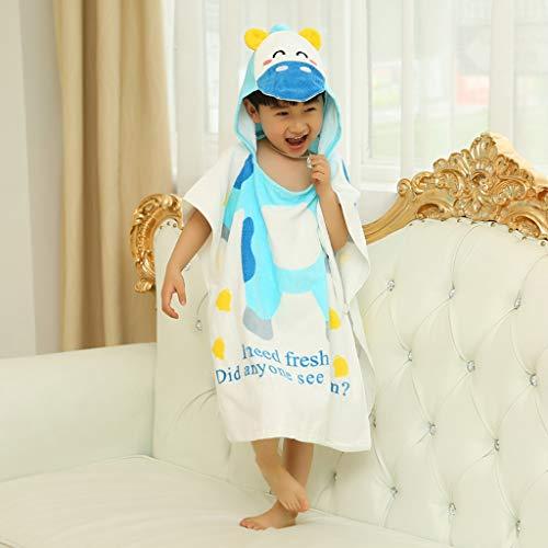 Tier Kapuze Baby-Handtuch Waschlappen Ultra Soft und Extra Large, 100% Baumwolle Bademantel for Dusche Geschenk for Jungen oder Mädchen (2-6 Jahre) (Color : Mengniu)