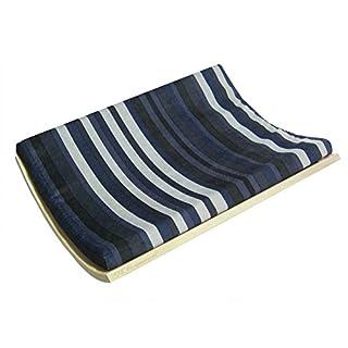 Akemi Tanaka Curve Wall-Mounted Cat Bed, Birch/Stripe