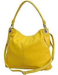 4d0d5965b53a4 AMBRA Moda Damen echt Ledertasche Handtasche Schultertasche Beutel Shopper  Umhängtasche GL012
