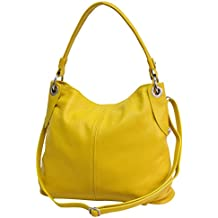 aac31ea0536a5 AMBRA Moda Damen echt Ledertasche Handtasche Schultertasche Beutel Shopper  Umhängtasche GL012