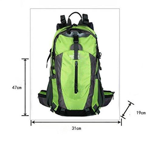 40L Großer Camping Rucksack Wandern Daypack Reise Rucksack Casual Rucksack Tasche,SkyBlue Black