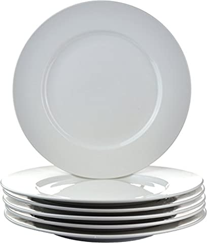 Argon Tableware large Rim Dinner Plates - 20cm (8