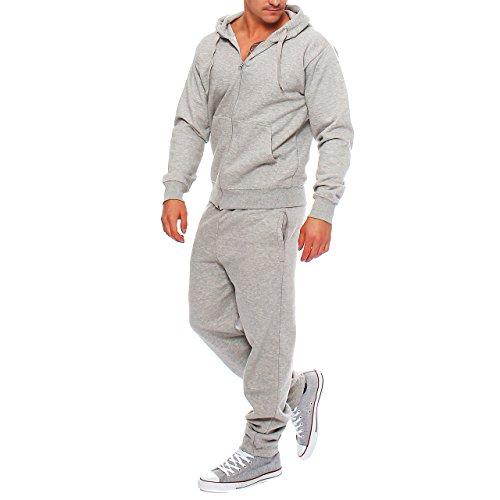 HG4 Hype Inc Herren Jogging Anzug Trainingsanzug Sweatshirt Hellgrau Gr. 4XL