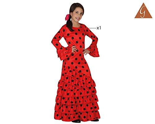 Imagen de atosa  disfraz de flamenca para niña, color rojo, talla l, 7 9 años 111 26532  alternativa
