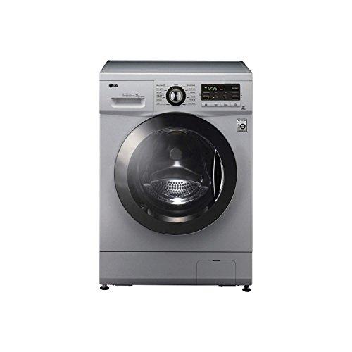 LG F1296TDA5 6 Motion Direct Drive 8kg 1200rpm Silver Freestanding Washing Machine