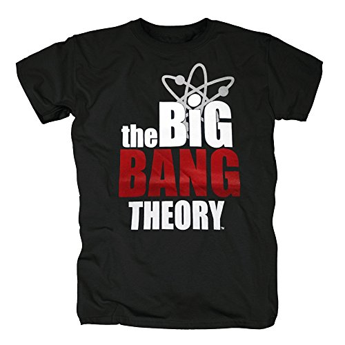 TSP The Big Bang Theory Logo T-Shirt Herren XXL Schwarz (The Theory Halloween Bang Big)