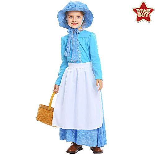Kostüm Kind Dienstmädchen - COSOER Idyllisches Dienstmädchen-Eltern-Kind-Kostüm Märchen-Kolonialkleid Für Halloween,Child-M