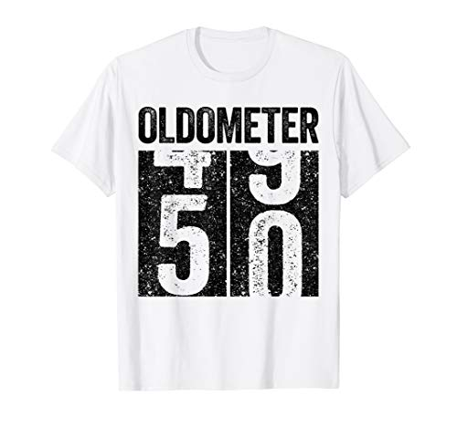 Oldometer 50 T Shirt 50th Birthday Gift