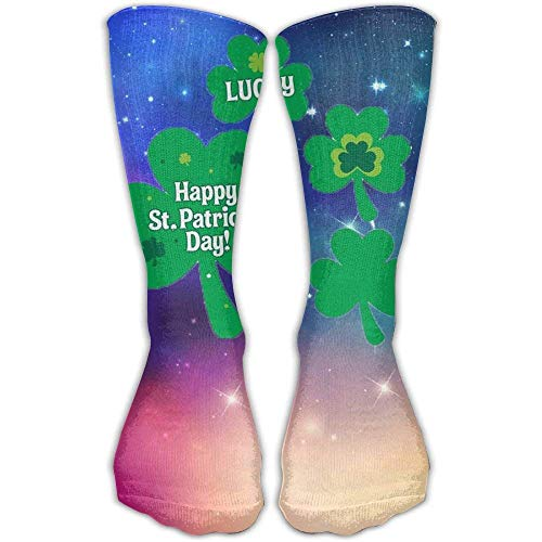 dfegyfr Design St.Patrick Day Fashion Art Knee High Socks For Women &Girl