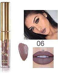 TOPBeauty 1x Sexy Longue Durée Rouge à Lèvres Liquide Mat Waterproof Hydratant Brillant à Lèvres Maquillage #6