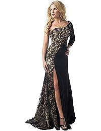 NINGSANJIN Kleider Damen Sexy Maxikleid Elegant Festlich Hochzeit Rockabilly Schulterfrei Kleid Abend Langes Sommer Party Kleid Cocktailkleid