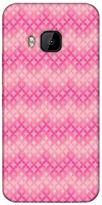 Snoogg Star Pink Circular Pattern Designer Protective Back Case Cover For HTC M9