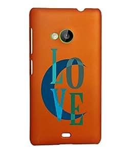 KolorEdge Back Cover For Microsoft Lumia 535 - Orange (2309-Ke15106Lumia535Orange3D)