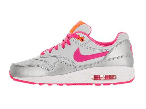 Nike Air Max 1 (Gs), Nike Air Max 1 GS black cool grey white 555766 043 homme Blanc