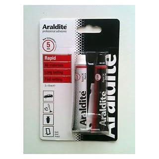 Araldite Rapid Adhesive Glue Red Super Strong 2 X 15ml Tubes