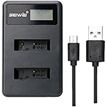 NP-BX1 LCD Cargador de batería doble para Sony DSC-RX100 IV RX10 II RX1 HX300 WX300 WX500
