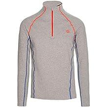 Ternua ® Mode 1/2 Zip LS M Camiseta, Hombre, Negro (Whales
