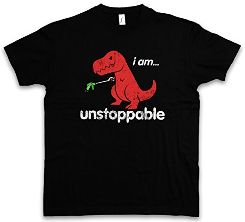 I AM UNSTOPPABLE T-SHIRT – dinosaurio Tyrannosaurus Rex T-Rex Dino Dinosaur Fun Monster Bambi Killed Nerd Who Joke Comedy Nerd Hipster Indie Tamaños S – 5XL