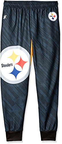 NFL Herren Jogger Hose, Herren, Pittsburgh Steelers Polyester Mens Jogger Pant Extra Large, Pittsburgh Steelers, X-Large