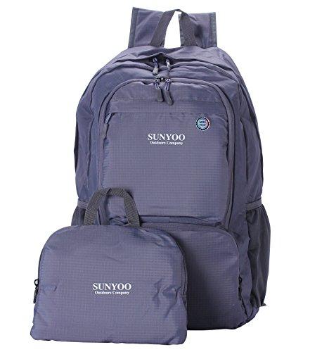 sunyoo-faltbarer-rucksack-35l-wasserdichter-leichter-wandern-rucksack-daypack-grau