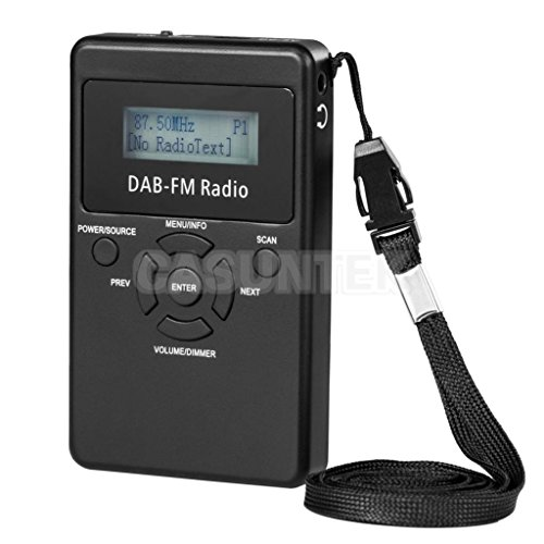 ELECTROPRIME® 2X Rechargeable DAB+ / FM RDS Radio Digital DAB Radio Receiver with Earphone