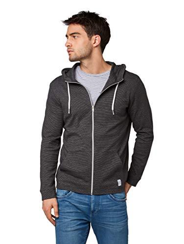 TOM TAILOR Casual Herren 1010767 Sweatshirt, Grau (Phantom Grey Grindle 17512), Large (Herstellergröße: L)