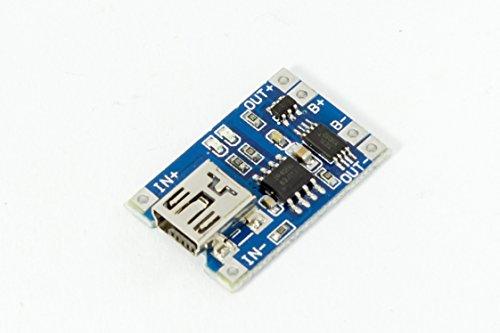Mini USB lipo lion Akku Lademodul mit Schutz TP4056 Arduino, Solar charger Raspberry Pi