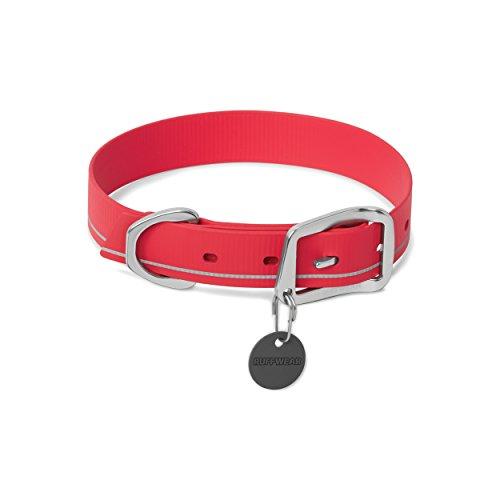 Ruffwear Wasserfestes Hundehalsband, Große Hunderassen, Größenverstellbar, Reflektorstreifen, Größe: 51-58 cm, Rot (Red Currant), Headwater Collar, 25402-6152023
