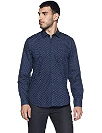 Peter England Men's Printed Slim Fit Formal Shirt