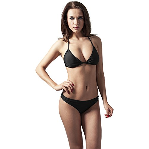 Urban Classics Damen Set Ladies Triangle Bikini, Schwarz (black 7), Gr. M
