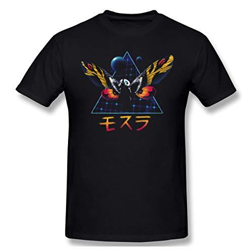 Kostüm Mothra - DeyAope Godzilla King of The Monster - Rad MOTHRA Retro 80S Cool Godzilla Movie Herren Weich T-Shirt Black 4XL