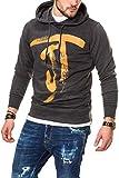 JACK & JONES Herren Hoodie Kapuzenpullover Sweatshirt (XL, Dark Grey Melange)