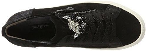 Paul Green  4542001, Chaussures de ville à lacets pour femme Schwarz (Black)