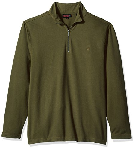 Wolverine Herren Hemd Benton Sueded French Terry Quarter Zip Shirt - Braun - Mittel - Sueded Baumwoll-shirt