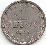 Deutsches Reich Jägernr: 311 1924 A sehr schön Silber 1924 1 Mark Reichsadler (Münzen für Sammler)