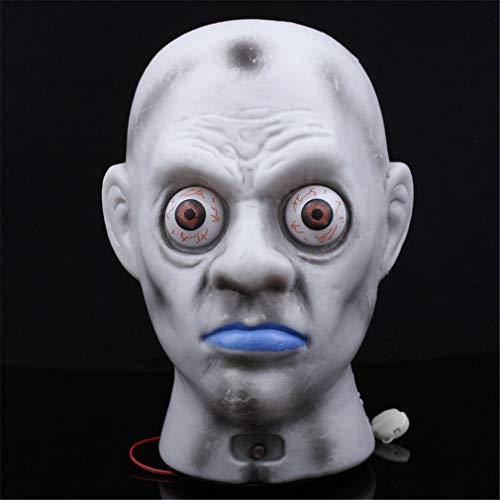 aterne Halloween Geist böse Kopf Halloween Dekoration Prop Horror Haunted Scary Kunststoff Zombie Augen glühen und vibrieren ()