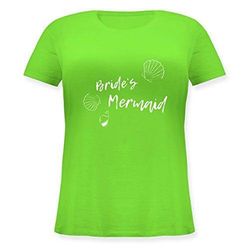 Shirtracer JGA Junggesellinnenabschied - Brides Mermaid - Lockeres Damen-Shirt in Großen Größen mit Rundhalsausschnitt Hellgrün