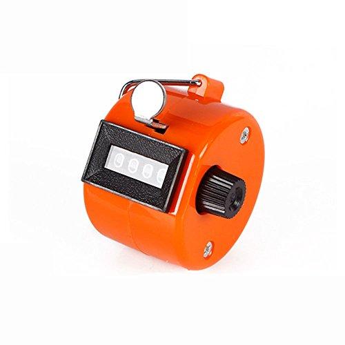 Preisvergleich Produktbild nicedier-tech Handbuch,  der Hand Held Tally Zähler 4-stellige Mechanische Palm Clicker Zähler für Sport Cook Standard orange