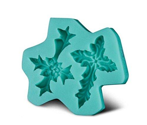 aloiness 1PCS Silikon Molds- Packung Bonbons, Schokolade Formen EIS-Würfel-Behälter - Hearts, Stars & Muscheln